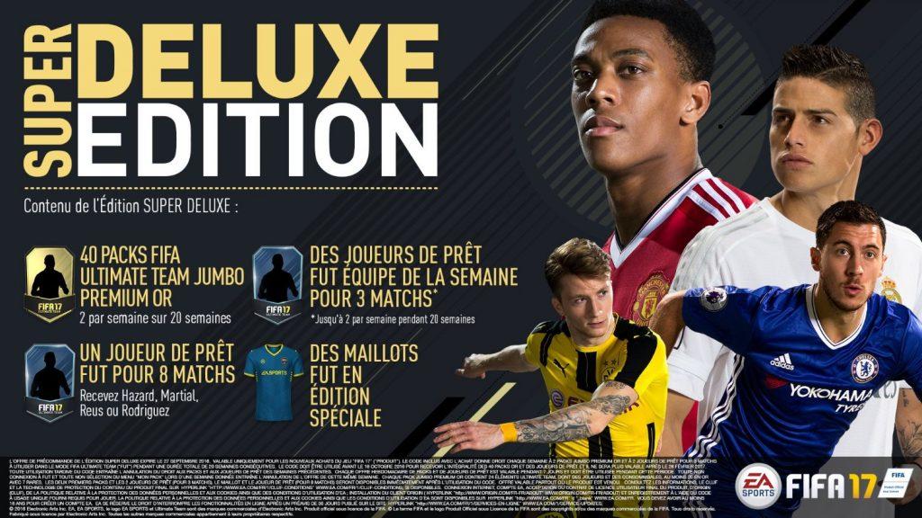 Achetez FIFA 17 sur Xbox One édition super deluxe
